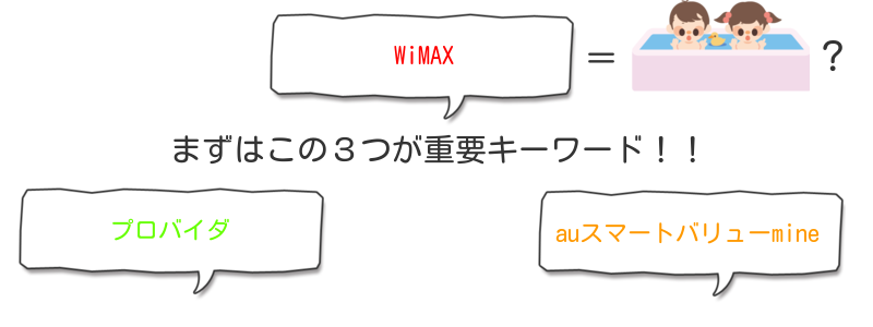 WiMAX、プロバイダ、auスマートリューmineが重要!